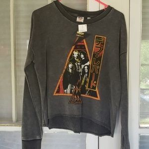 Definitely Leppard Crop Sweatshirt